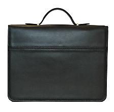 Tašky - Luxusná kožená spisovka v čiernej farbe - 9882955_
