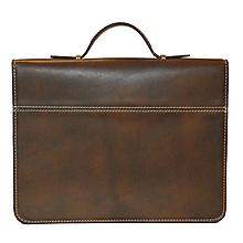 Tašky - Luxusná kožená spisovka v hnedej farbe - 9882959_