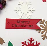 VI105 Visačka Merry Christmas 7 x 2 cm (Červená)