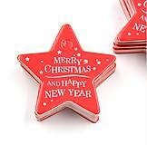VI113 Visačka vianočná HVIEZDIČKA 5 cm (Červená)
