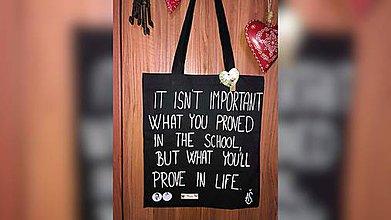 Nákupné tašky - ♥ Plátená, ručne maľovaná taška ♥ - 9881056_