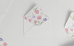 Botanická akvarelová obálka | s ilustráciou kvetov pivónie a lisianthus
