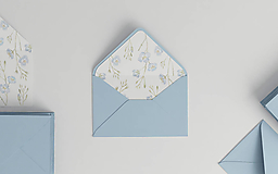 Papiernictvo - Botanická akvarelová obálka | s ilustráciou ľanu - 9880869_