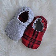 Topánočky - Obojstranné capačky 3-6 mesiacov - 9883461_