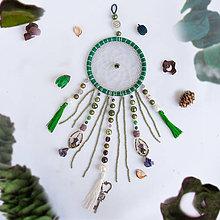 Dekorácie - Lapač snov: S pozitívnym vplyvom zelenej farby - 9880885_