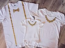 Set 3 ks ručne maľované Narodeninové rodinné tričká
