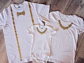 Detské oblečenie - Set 3 ks ručne maľované Narodeninové rodinné tričká - 9883342_