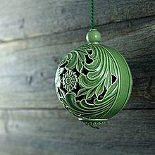 Dekorácie - Aroma ozdoba velká zelená - 9883235_