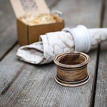 Dekorácie - Kroužek na ubrousek patina burel - 9883452_