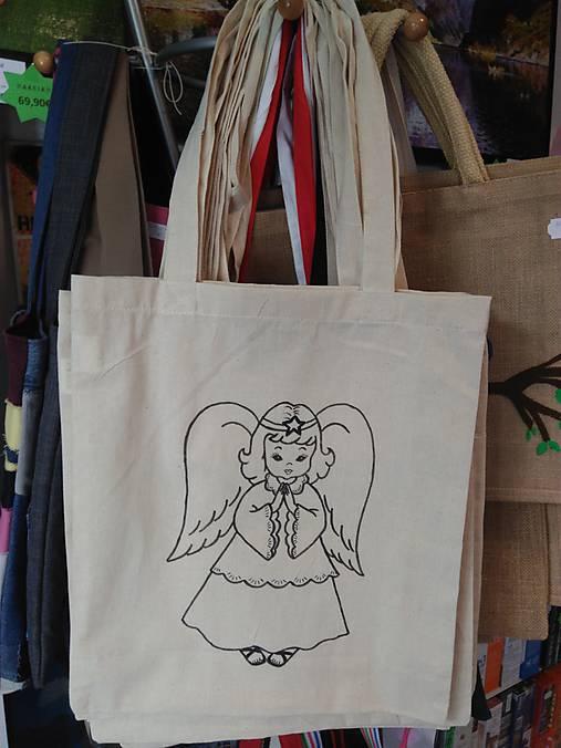 02f1eebfb Plátená nákupná taška s anjelikom / rifloviny - SAShE.sk - Handmade ...