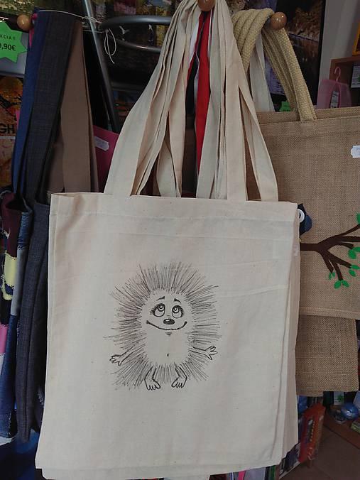 7bba078c9 Plátená nákupná taška s ježkom / rifloviny - SAShE.sk - Handmade ...