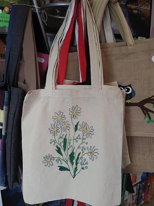 e7fac2ff6 Plátená nákupná taška s kvietkami / rifloviny - SAShE.sk - Handmade ...