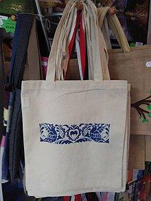 Nákupné tašky - Plátená nákupná taška s ľudovým motívom - 9880893_