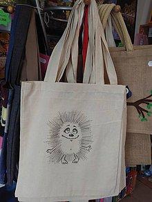 Nákupné tašky - Plátená nákupná taška s ježkom - 9880919_