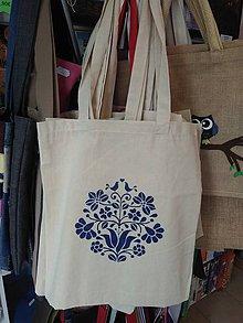 Nákupné tašky - Plátená nákupná taška s ľudovým motívom - 9880929_