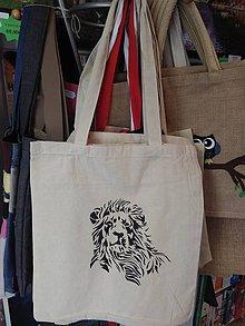 Nákupné tašky - Plátená nákupná taška s levom - 9880931_