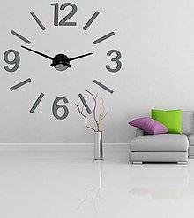 Hodiny - Veľké nástenné hodiny farebné X0067 (Oranžová) - 9880960_