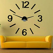 Hodiny - Veľké nástenné hodiny farebné X0067 (Strieborná) - 9880965_
