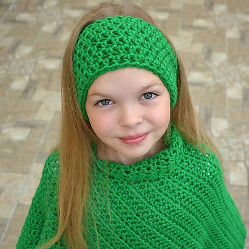 Zelenka ~ háčkovaná čelenka