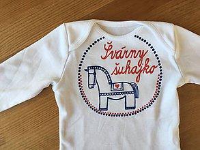Detské oblečenie - Maľované body veselo - naľudovo s nápisom