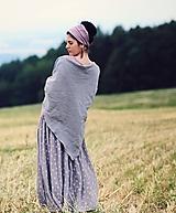 Šatky - Šedý šátek - 9883309_