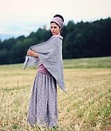 Šatky - Šedý šátek - 9883310_