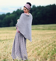 Šatky - Šedý šátek - 9883308_