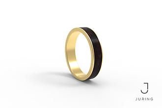 Prstene - žlté zlato - Slim EBEN - 9881939_