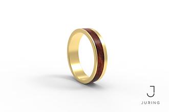 Prstene - žlté zlato - Elegant Palisander kráľovský - 9882001_