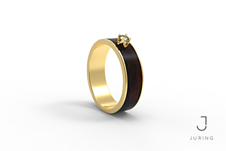 Prstene - žlté zlato - Snubný EBEN - 9882012_