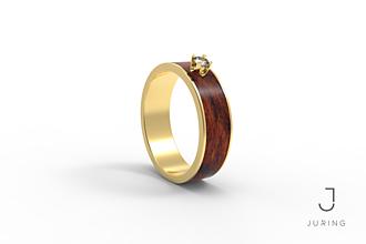 Prstene - žlté zlato - Snubný PALISANDER KRÁĽOVSKÝ - 9882089_