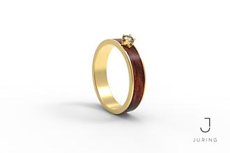 Prstene - žlté zlato - Snubný Slim PALISANDER KRÁĽOVSKÝ - 9882142_