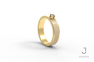 Prstene - žlté zlato - Snubný Slim JAVOR - 9882154_