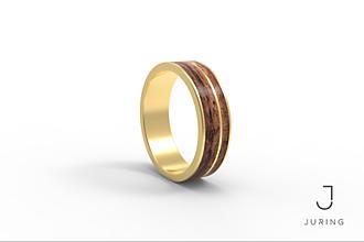 Prstene - žlté zlato - PRIME AMERICKÝ OŘECH - 9882171_