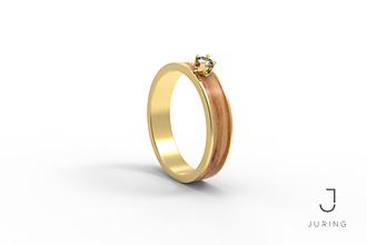 Prstene - žlté zlato - Snubný Slim OLIVA - 9882225_
