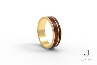 Prstene - žlté zlato - PRIME PALISANDER KRÁĽOVSKÝ - 9882227_