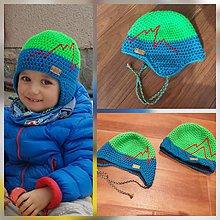 Detské čiapky - Detské merino čiapky podšité flisom al. bavlnou - súrodenecké - 9880473_