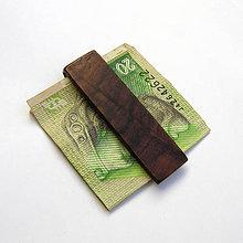 Tašky - Palisandrová spona na peniaze - 9881439_