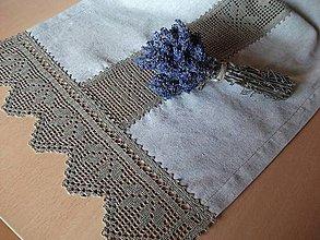 Úžitkový textil - *** stredový obrus ľanový - hviezdy *** - 9885056_