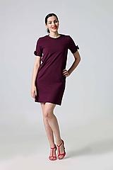 Šaty - Šaty teplákové baklažánové - 9883588_