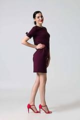 Šaty - Šaty teplákové baklažánové - 9883589_
