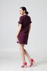 Šaty - Šaty teplákové baklažánové - 9883592_