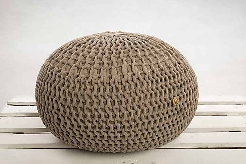 80d37e1d8a Puf z hrubých šnúr   LAF - SAShE.sk - Handmade Úžitkový textil