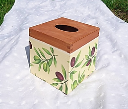 """Krabičky - Box na vreckovky """"Oliv"""" - 9884532_"""