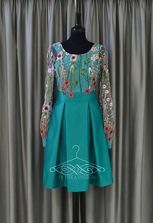 bb403890f1 Dámske kvietkované šaty s dlhým rukávom   domkadesign - SAShE.sk ...