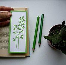 Papiernictvo - Dva zelené konáriky... - 9884981_