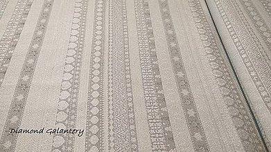 Textil - Látka pretkávaná lurexovou niťou - Vianočný mix v páse šedý - cena za 10 cm - 9883879_