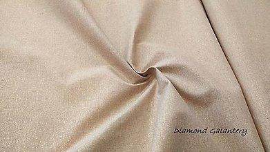 Textil - Látka pretkávaná lurexovou niťou zlatou - cena za 10 cm - 9885142_