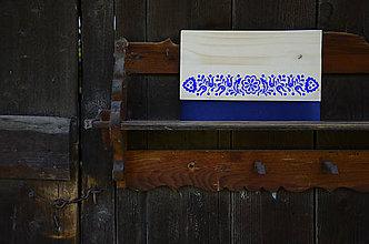 Kabelky - DREVENÁ KABELKA KVETY (Modrá/smrek) - 9884420_