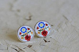 Šperky - NA SKLE MAĽOVANÉ manžetové gombíky - 9884912_